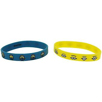 Despicable Me Minions Pack Of 2 Unisex Silicone Jelly Wristband Gift Set FJ1594
