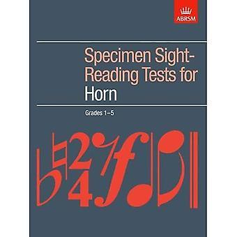 Esemplare di lettura a prima vista di prove per corno, gradi 1-5 (ABRSM lettura a prima vista)