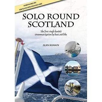 Solo runt Skottland: Den första singeln räckte världsomsegling med båt och cykel