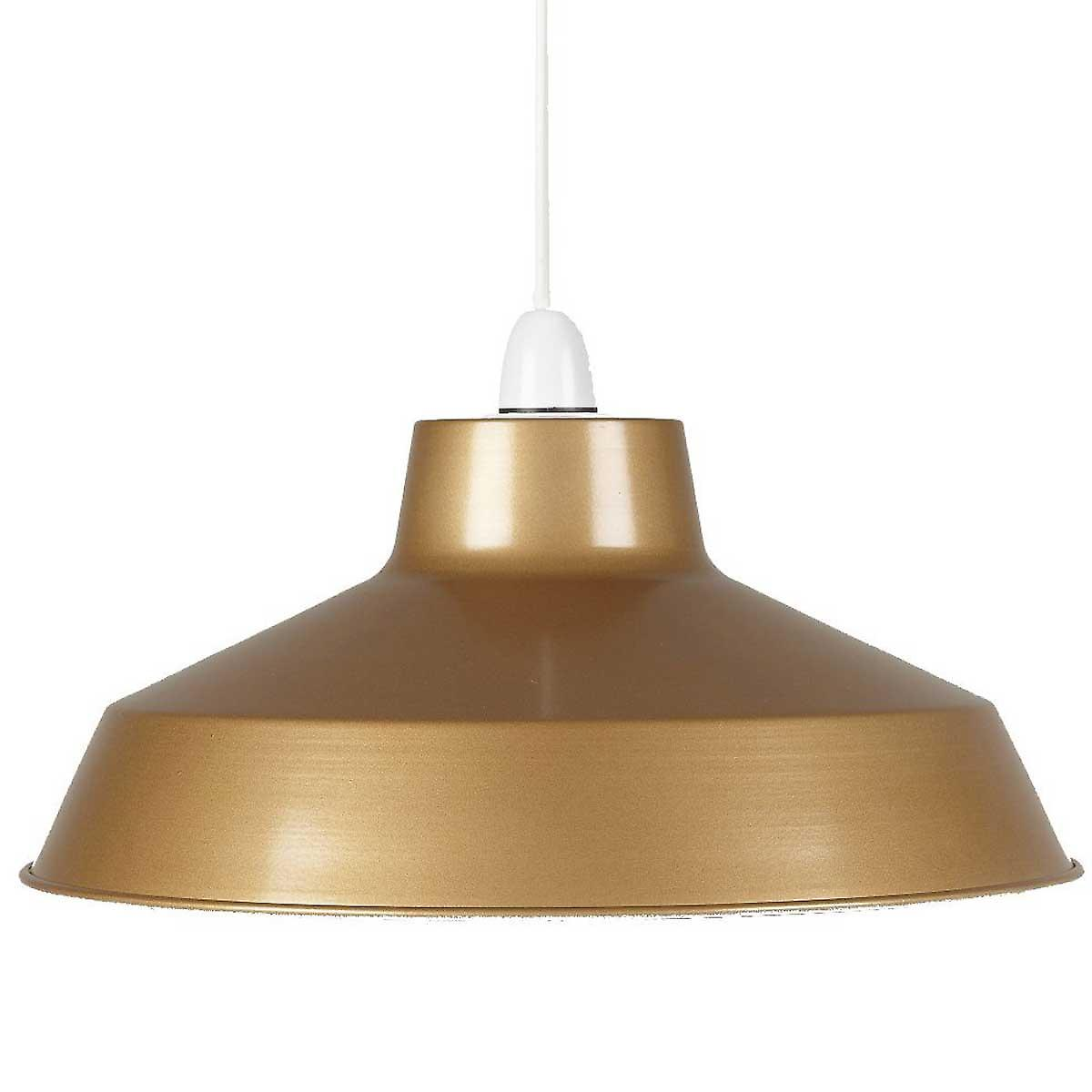 Small Gold Pluto Ceiling Pendant Shade - 30cm