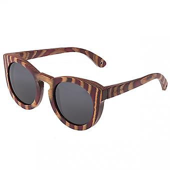 Spectrum Dorian Wood Polarized Sunglasses - Cherry Zebra/Black