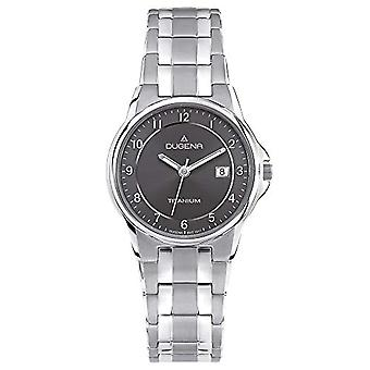 Dugena 4460514-men's wristwatch, titanium, colour: grey