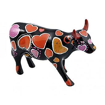 Cow Parade Cow-ween of Hearts (medium keramiek)