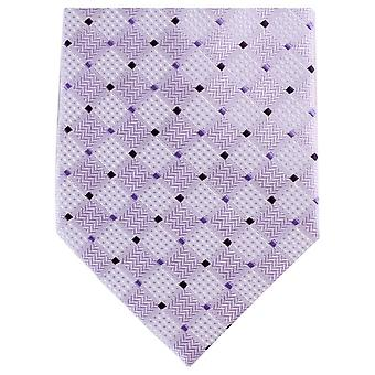 Knightsbridge Neckwear Diamond cravate Polyester ordinaire tonale - violet