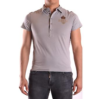 John Richmond Ezbc082098 Men's Grey Cotton Polo Shirt