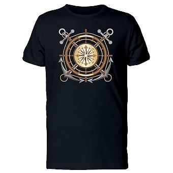 Boat Steering Wheel Compass Tee Men's -Image by Shutterstock