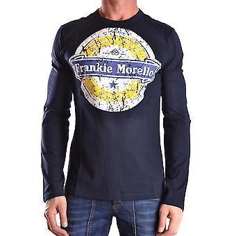 Frankie Morello Ezbc167044 Men's Blue Cotton Sweater