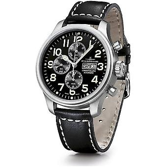 Zeno-watch mens watch oversized pilot chronograph-date 8557TVDD-a1