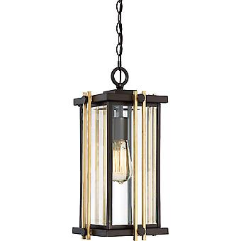 Stead-1 Light Medium Chain Lantern-Bronze Finish-QZ/GOLDENROD8/M