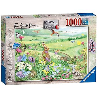 Ravensburger Walking World No. 1 Zuid-Downs 1000 Stukpuzzel