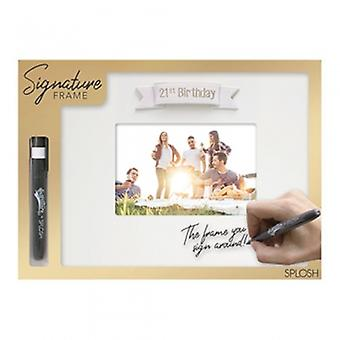 Splosh 21st Birthday Write On Photo Frame-Geschenke From Handpicked