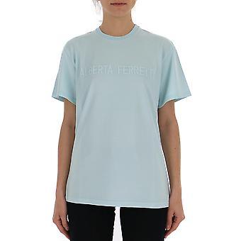 Alberta Ferretti A0715172331 Frauen's hellblau Baumwolle T-shirt