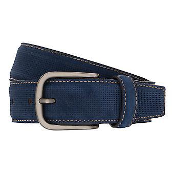 MIGUEL BELLIDO Belt Lord Belt Leather Belt suede Blue 8001