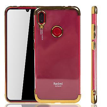 Handyhülle für Xiaomi Redmi Note 7 Gold - Clear - TPU Silikon Case Backcover Schutzhülle in Transparent   Gold