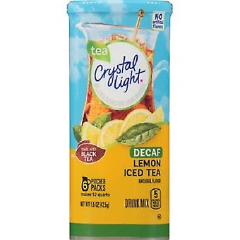 Crystal Light Decaf limone tè freddo bevanda mix