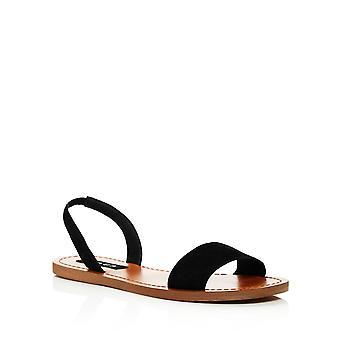 Aqua Womens Cece Leather Open Toe Casual Slingback Sandals