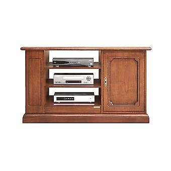 TV cabinet with one door and shelves