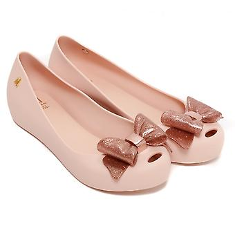 Melissa Shoes Kids Ultragirl Sweet Bow Pumps, Blush Glitter