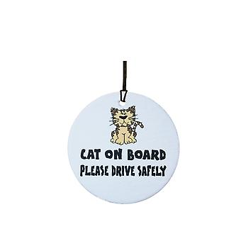 Cat On Board Car Air Freshener