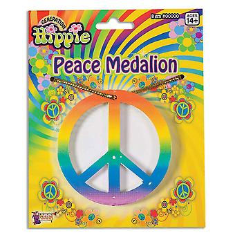 Bristol Novelty Unisex Adults Rainbow Peace Medallion