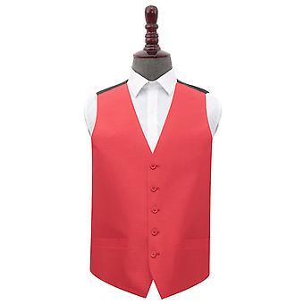 Red Plain shantung bryllup vest