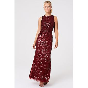 Outlet Little Mistress Illaria Red Ombre Hand Embellished Sequin Maxi Dress