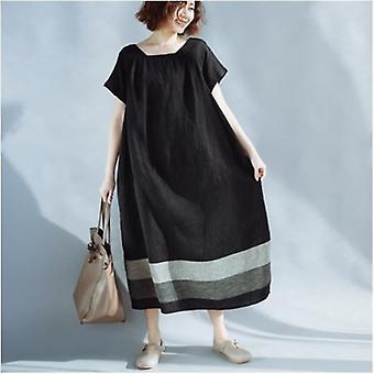 Lose Oversize confortable langes Kleid