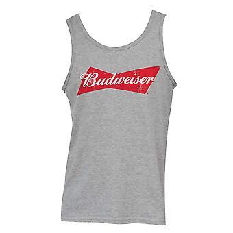 Budweiser Men's Grey Tank Top