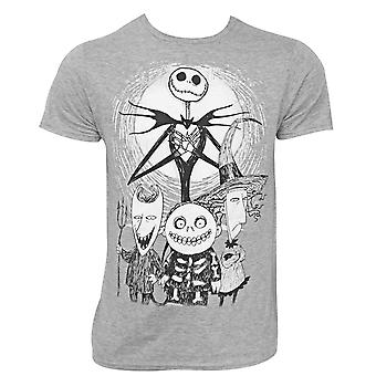 Nightmare Before Christmas groep grijs T-shirt