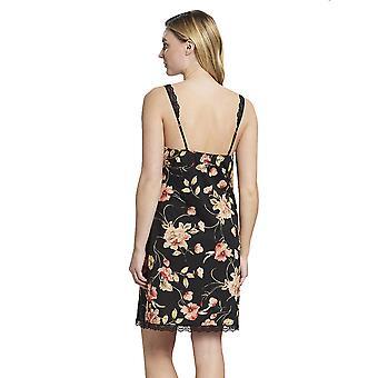 Rösch 1193618-16403 Women's New Romance Black Floral Cotton Nightdress