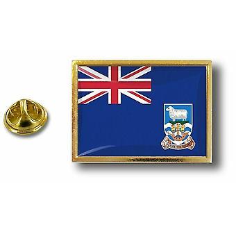 باين بينس شارة دبوس أبوس؛ معدن مع فراشة الكرة العلم فوكلاند