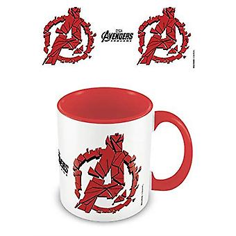 Avengers Endgame Red Shattered Logo Mug Gaming Merchandise