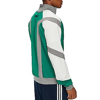 adidas Originals Mens EQT Block Full Zip Colourblock Windbreaker Jacket Green