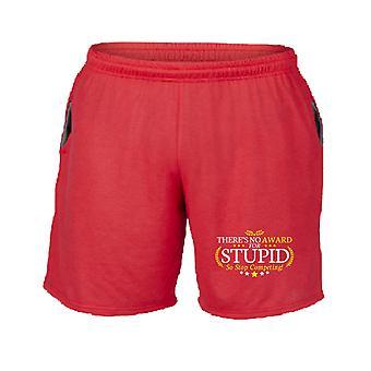 Pantaloncini tuta rosso trk0802 award stupid