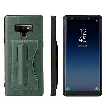 Für Samsung Galaxy Note 9 Fall Luxus Leder Telefon Cover Kickstand, grün