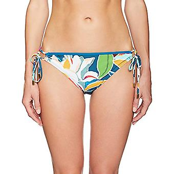 La Blanca Women's Side Tie Hipster Bikini Swimsuit Bottom, Green/Pink/Purple, 4