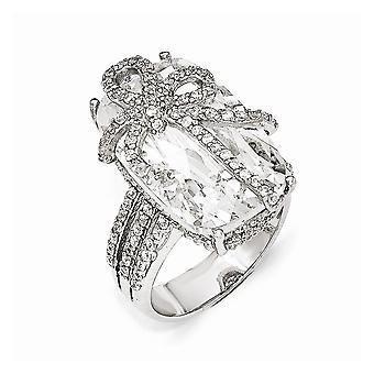 Cheryl M 925 Sterling Silver CZ Cubic Zirconia Gesimuleerde Diamond Bow Ring Sieraden Geschenken voor vrouwen - Ring Grootte: 6 tot 7