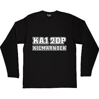 Kilmarnock Código Postal Camiseta Negra de Manga Larga