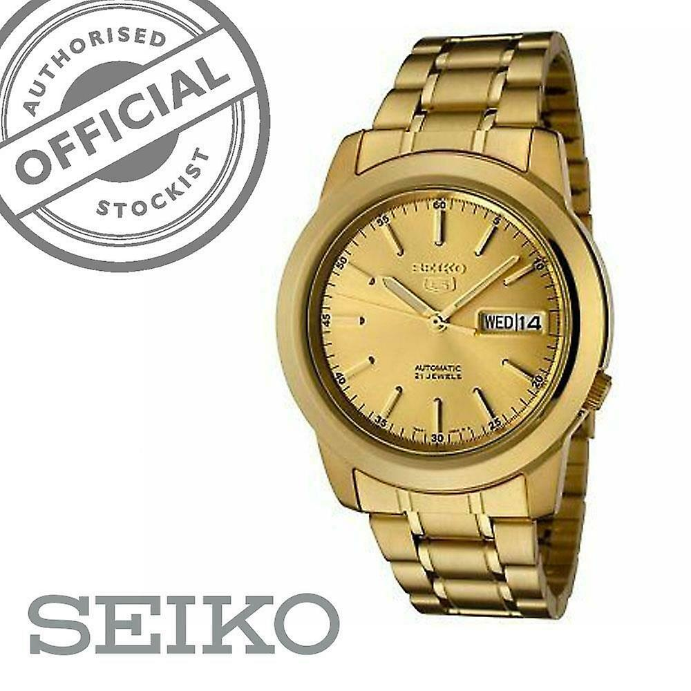 Seiko 5 Automatic Full Gold PVD Stainless Steel Men's Watch SNKE56K1