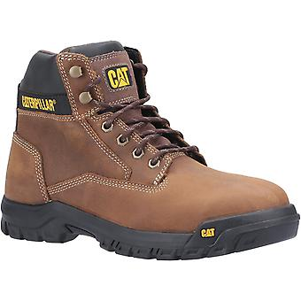 Caterpillar Mens Median S3 Lace Up Safety Boot Braun