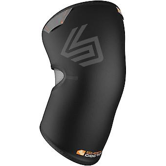 Shock Doctor Knee Compression Sleeve with Closed Patella Coverage - Black