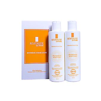 Revitalise Extreme Brazilian Home Care Shampoo And Conditioner Kit To Repair and