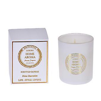 Duftende stearinlys bomull glass jar gave boks hvit