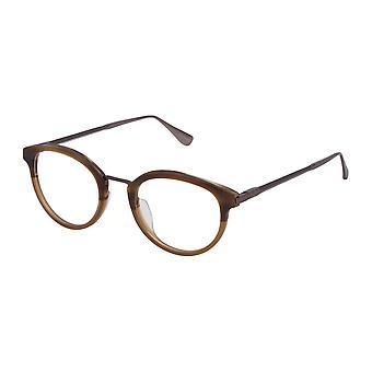 Dunhill VDH084 9R4M Semi Matte Striped Brown Glasses