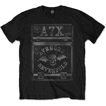 Avenged siebenfach A7X Flightcase offizielle T-Shirt Herren Unisex