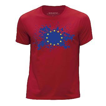 STUFF4 Boy's Round Neck T-Shirt/European Union/EU Flag/Red