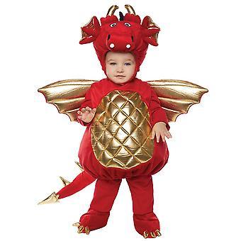 Детский костюм красный дракон