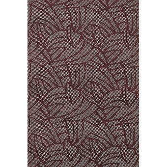 Italian shirts-Slim Fit shirt-Blouse Dotted Leaves Pattern-Bordeaux