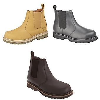 Grafters Mens Safety Chelsea Boots
