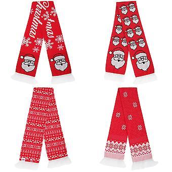 FLOSO Unisex kerst Design Winter sjaal met randen